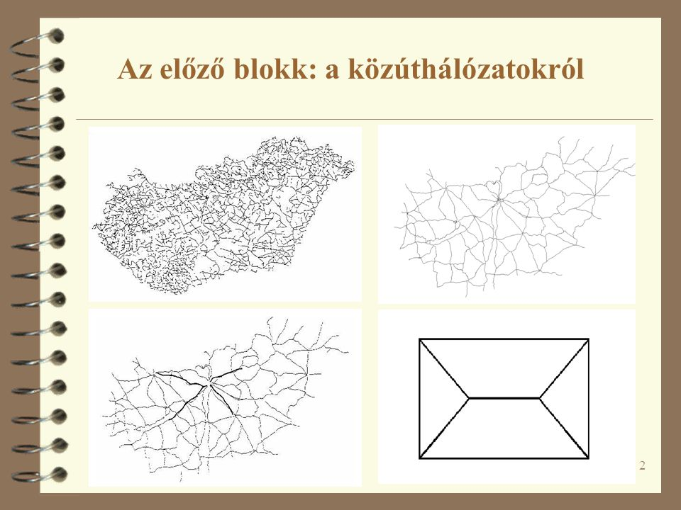 Az előző blokk: a közúthálózatokról