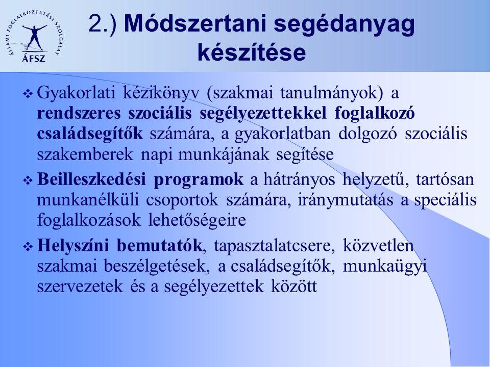2.) Módszertani segédanyag készítése