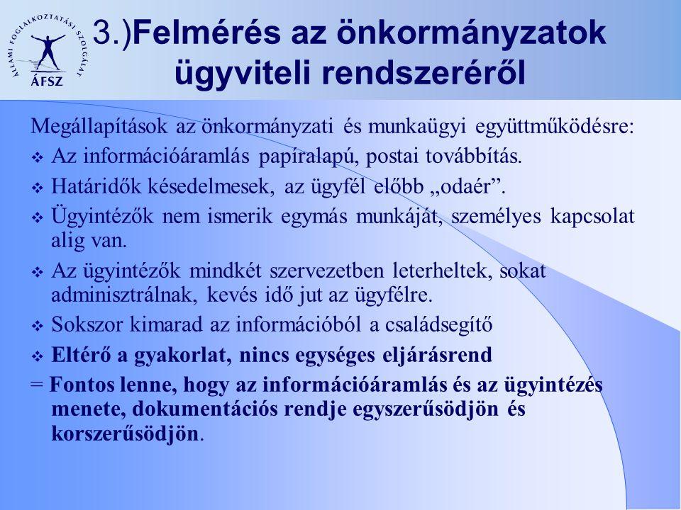 3.)Felmérés az önkormányzatok ügyviteli rendszeréről