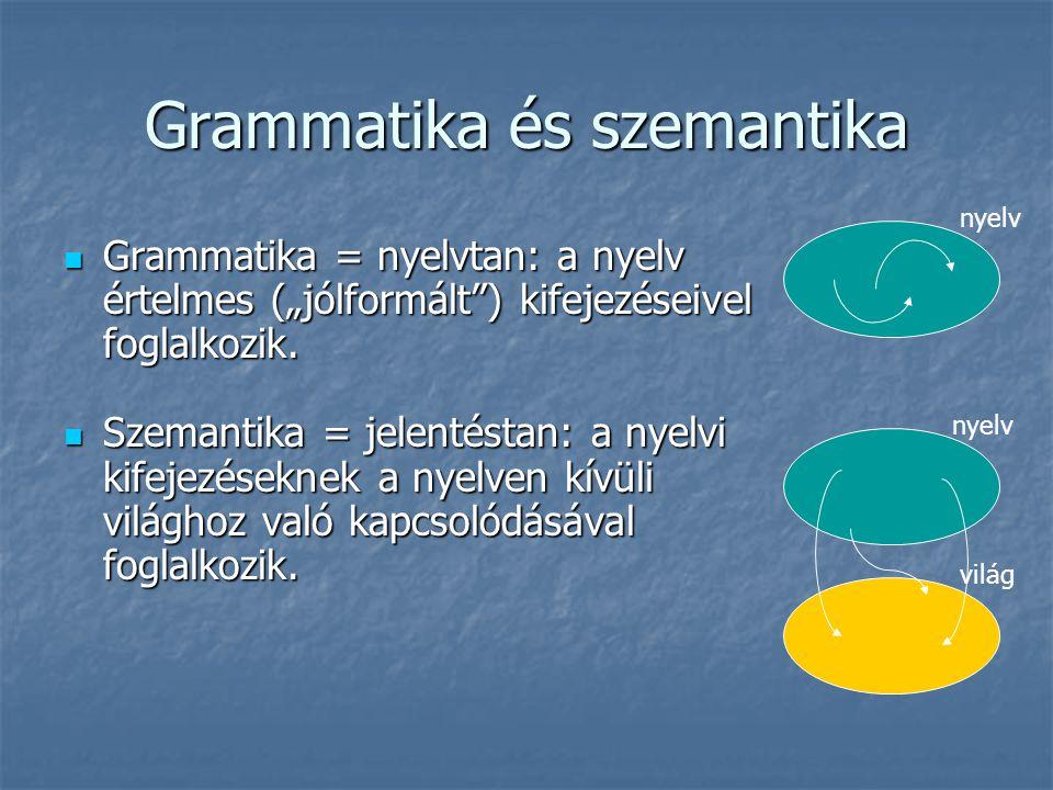 Grammatika és szemantika