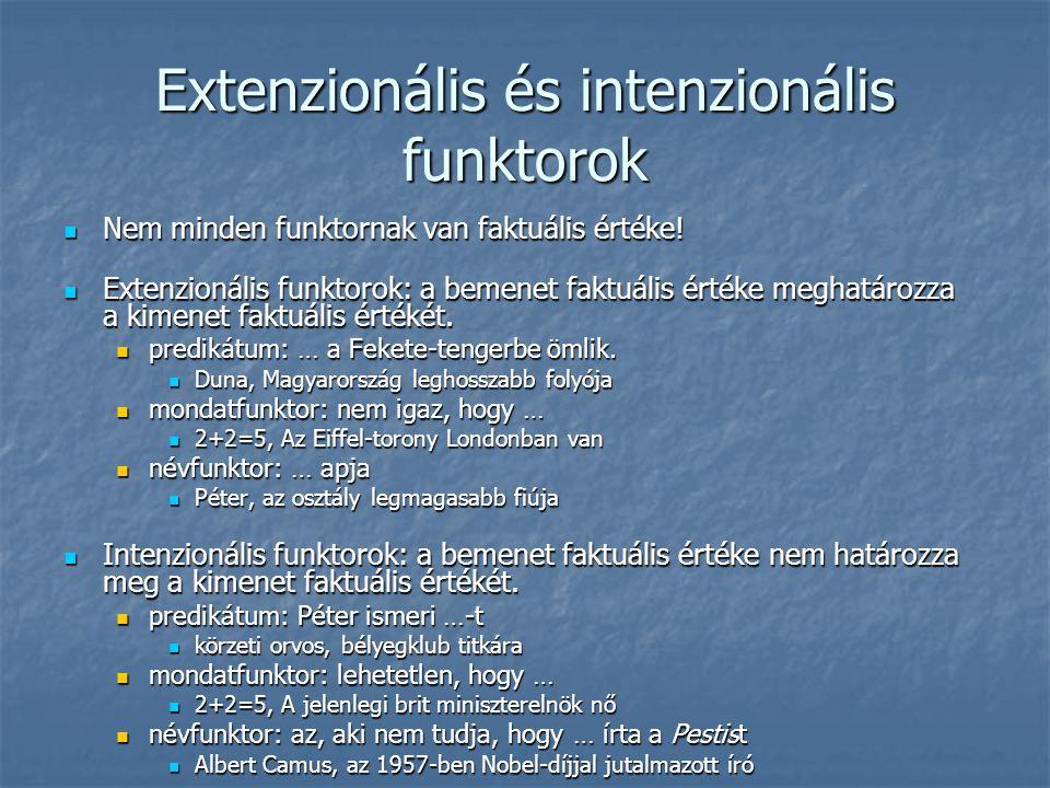 Extenzionális és intenzionális funktorok