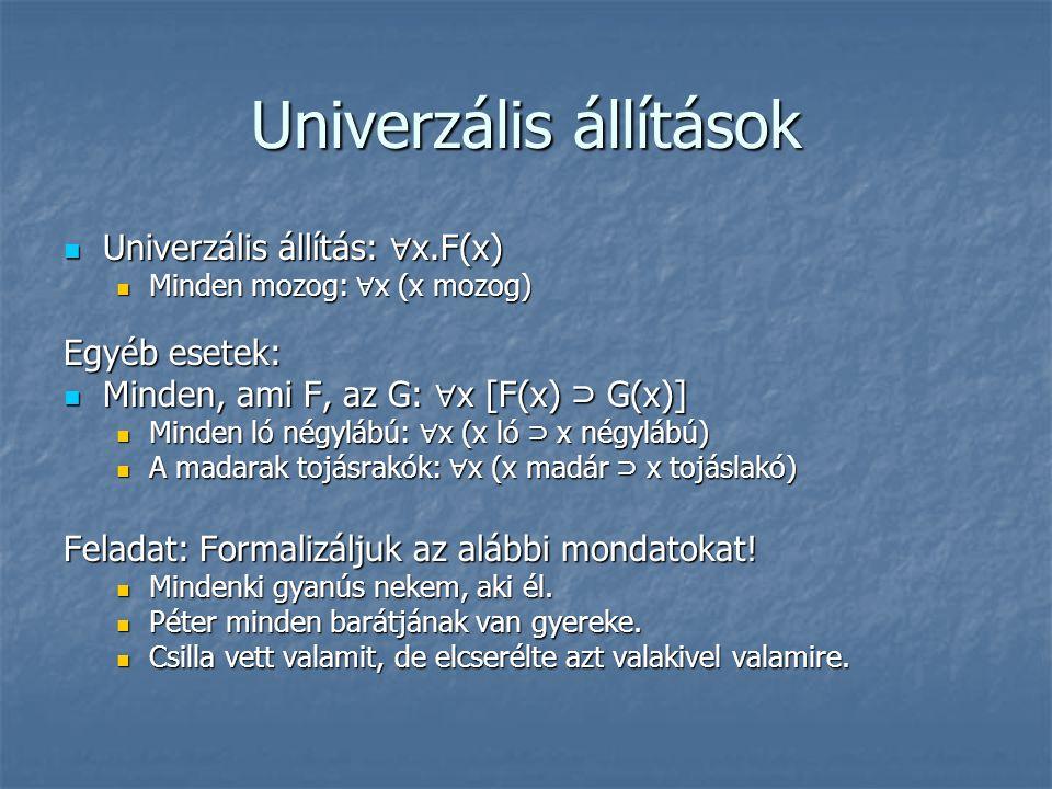 Univerzális állítások