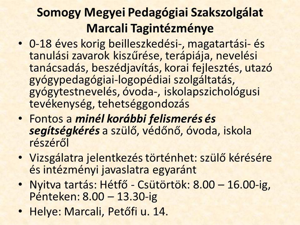 Somogy Megyei Pedagógiai Szakszolgálat Marcali Tagintézménye