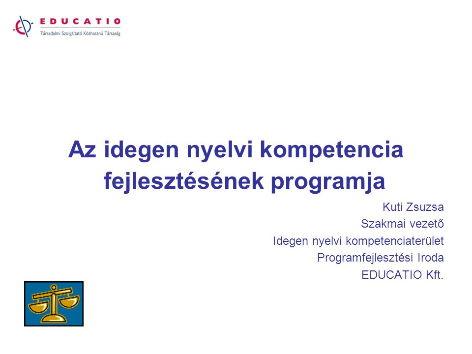 Az idegen nyelvi kompetencia fejlesztésének programja