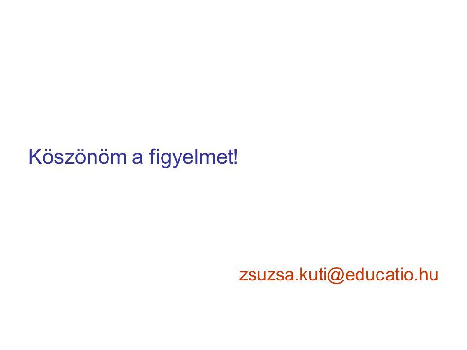 Köszönöm a figyelmet! zsuzsa.kuti@educatio.hu