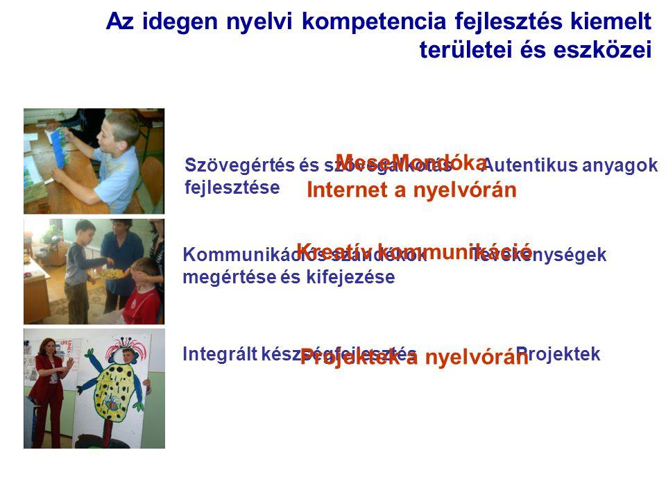Az idegen nyelvi kompetencia fejlesztés kiemelt területei és eszközei