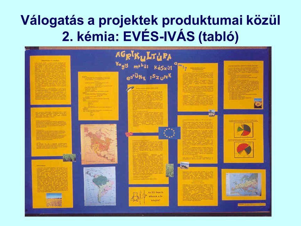 Válogatás a projektek produktumai közül 2. kémia: EVÉS-IVÁS (tabló)