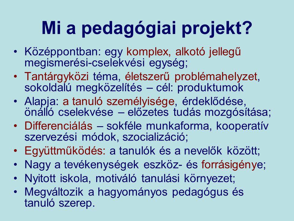 Mi a pedagógiai projekt