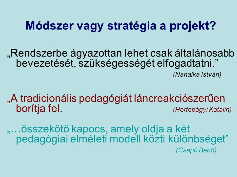 Módszer vagy stratégia a projekt