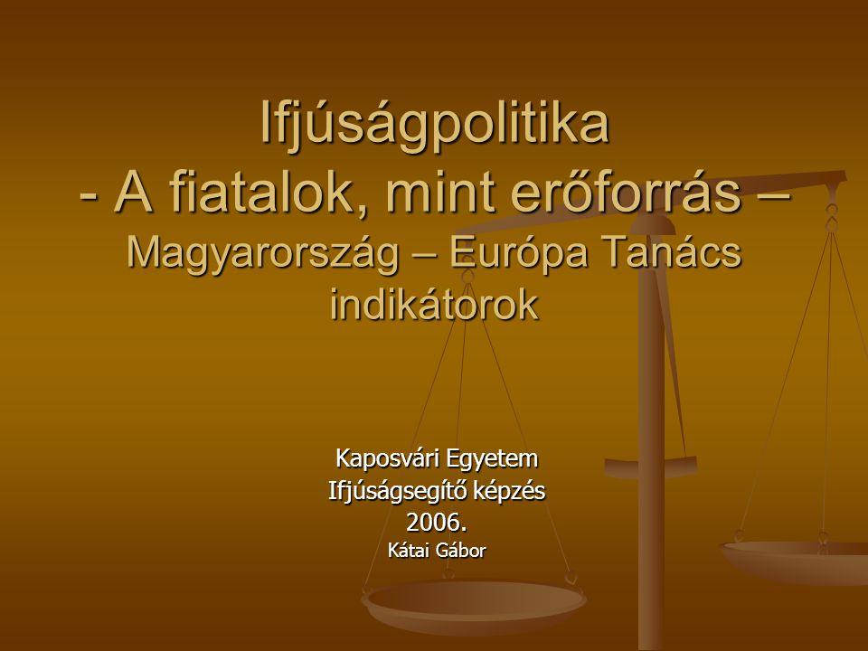 Kaposvári Egyetem Ifjúságsegítő képzés 2006. Kátai Gábor