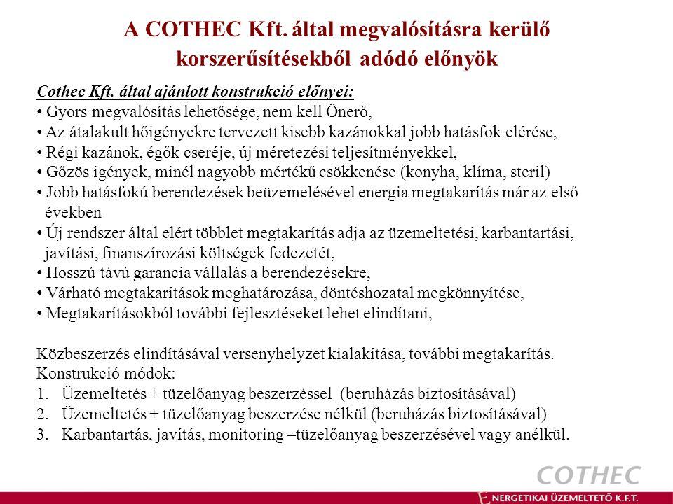 A COTHEC Kft. által megvalósításra kerülő