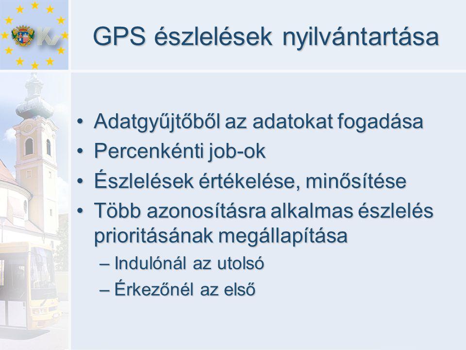 GPS észlelések nyilvántartása