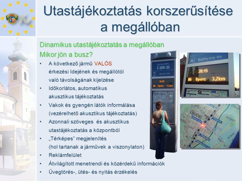 Utastájékoztatás korszerűsítése a megállóban