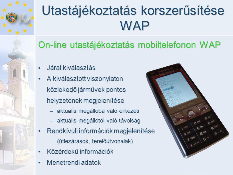 Utastájékoztatás korszerűsítése WAP