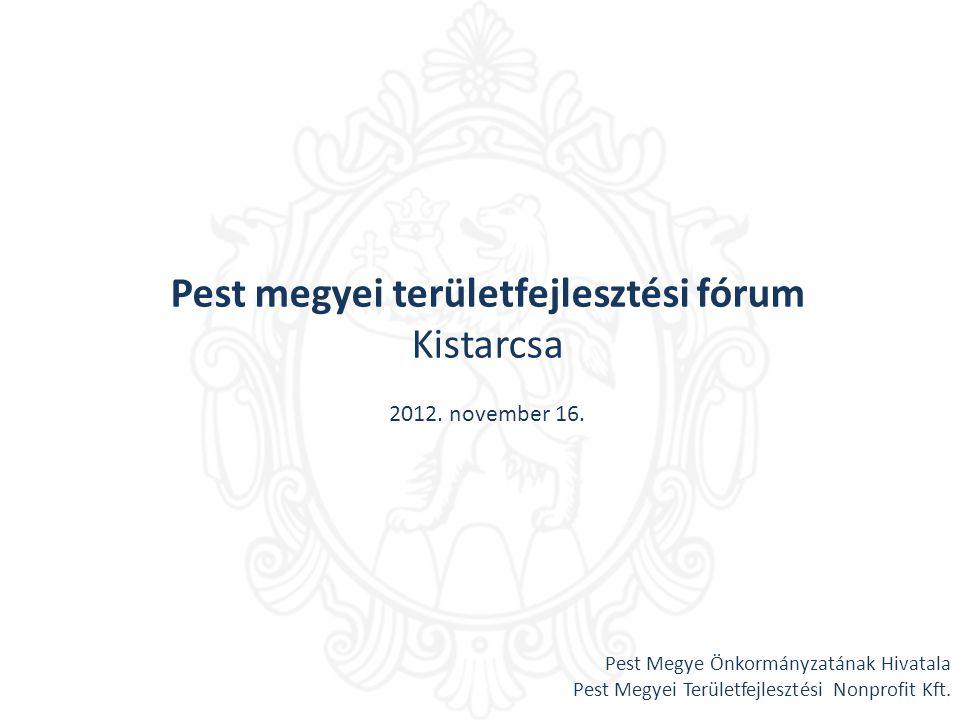 Pest megyei területfejlesztési fórum