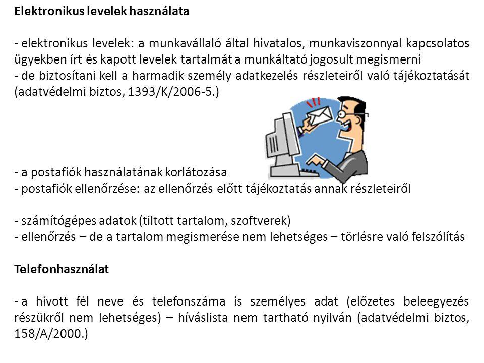 Elektronikus levelek használata