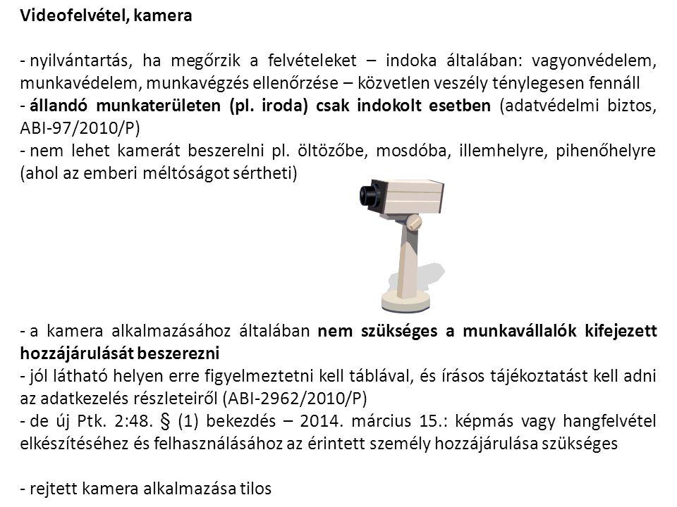 Videofelvétel, kamera