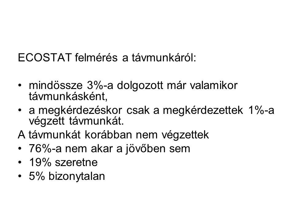 ECOSTAT felmérés a távmunkáról: