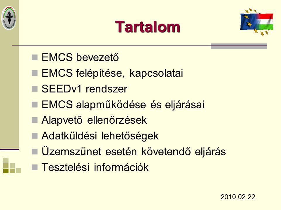 Tartalom EMCS bevezető EMCS felépítése, kapcsolatai SEEDv1 rendszer
