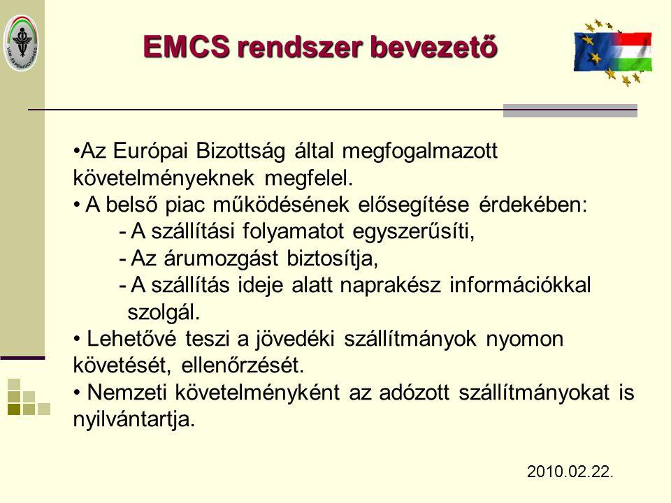EMCS rendszer bevezető