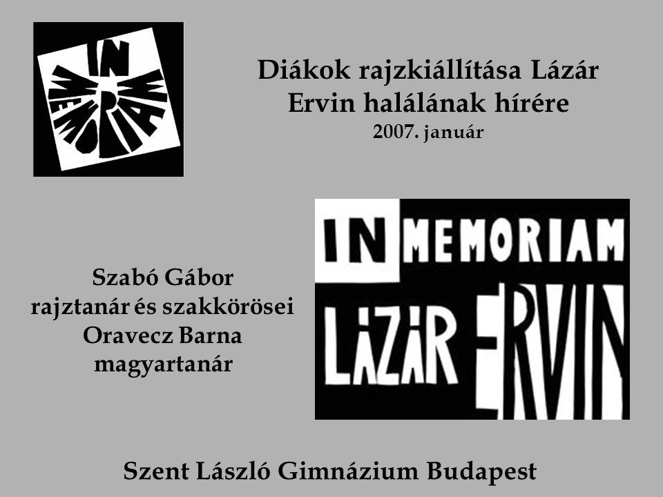 Diákok rajzkiállítása Lázár Ervin halálának hírére