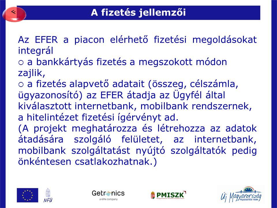 Az EFER a piacon elérhető fizetési megoldásokat integrál