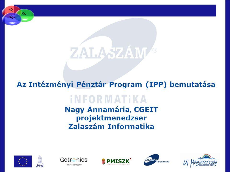 Az Intézményi Pénztár Program (IPP) bemutatása