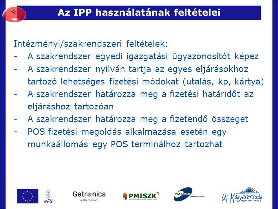 Az IPP használatának feltételei