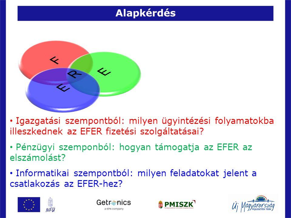 Alapkérdés F. E. R. E. Igazgatási szempontból: milyen ügyintézési folyamatokba illeszkednek az EFER fizetési szolgáltatásai