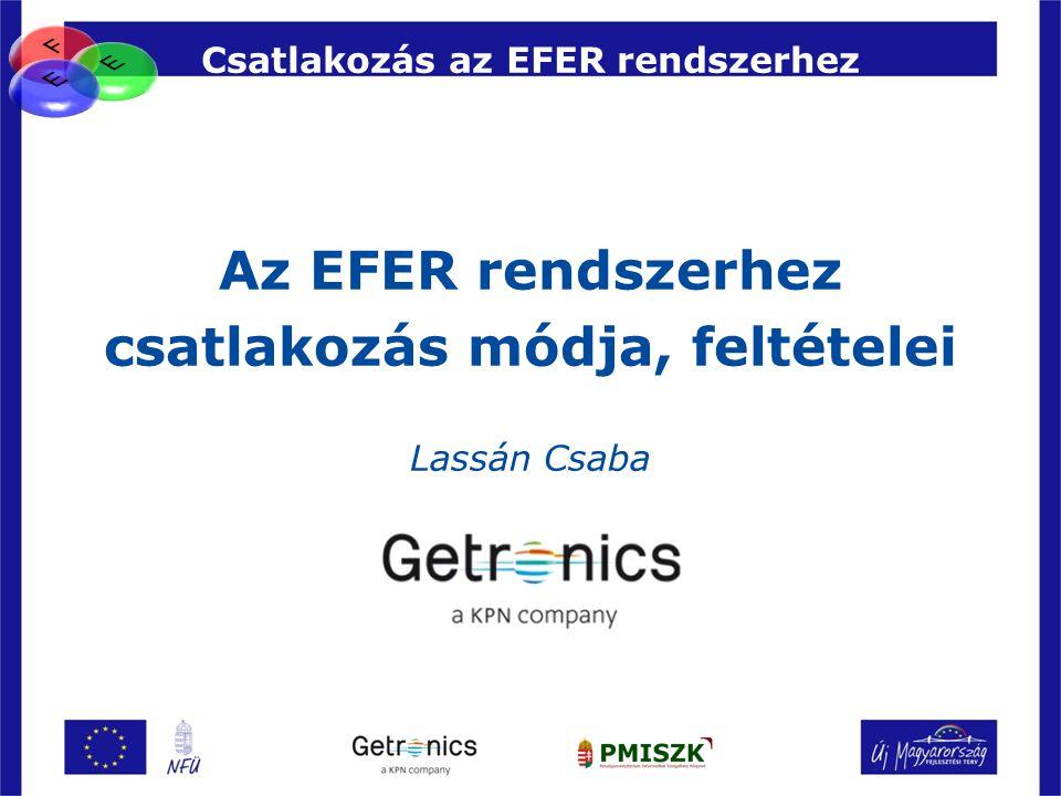 Csatlakozás az EFER rendszerhez