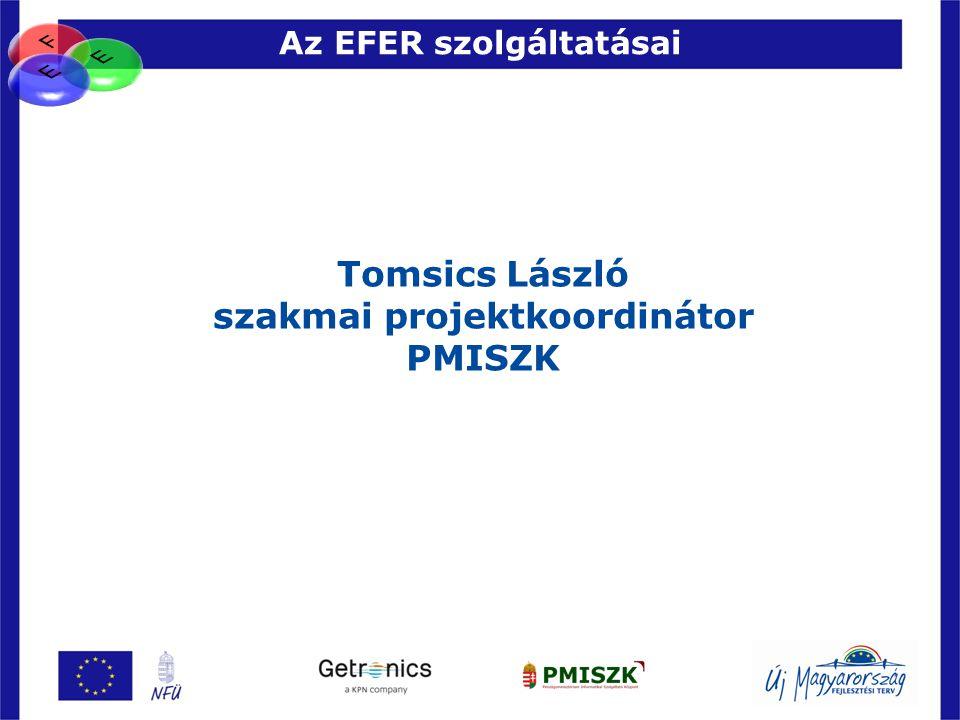 Az EFER szolgáltatásai