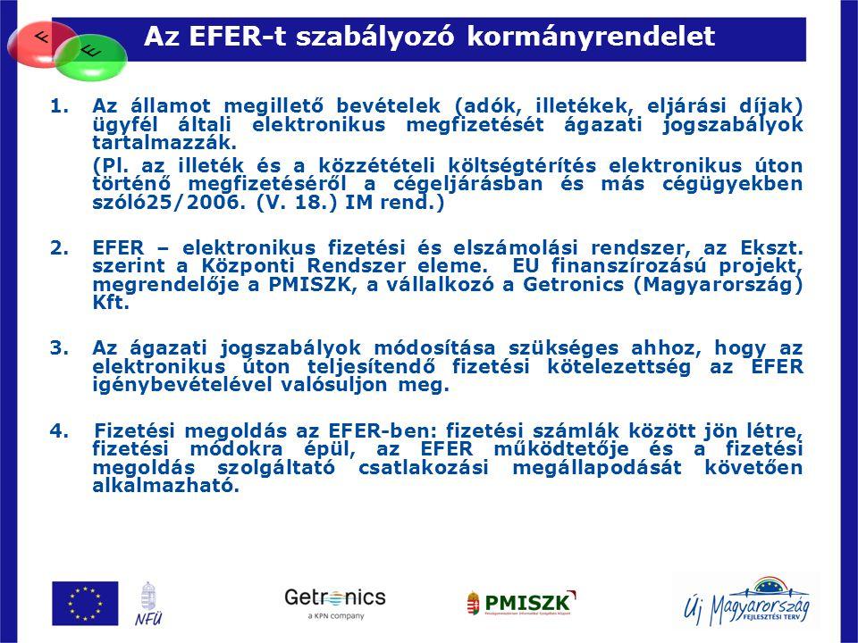 Az EFER-t szabályozó kormányrendelet