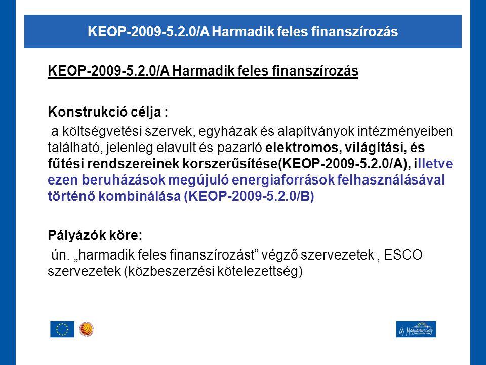 KEOP-2009-5.2.0/A Harmadik feles finanszírozás