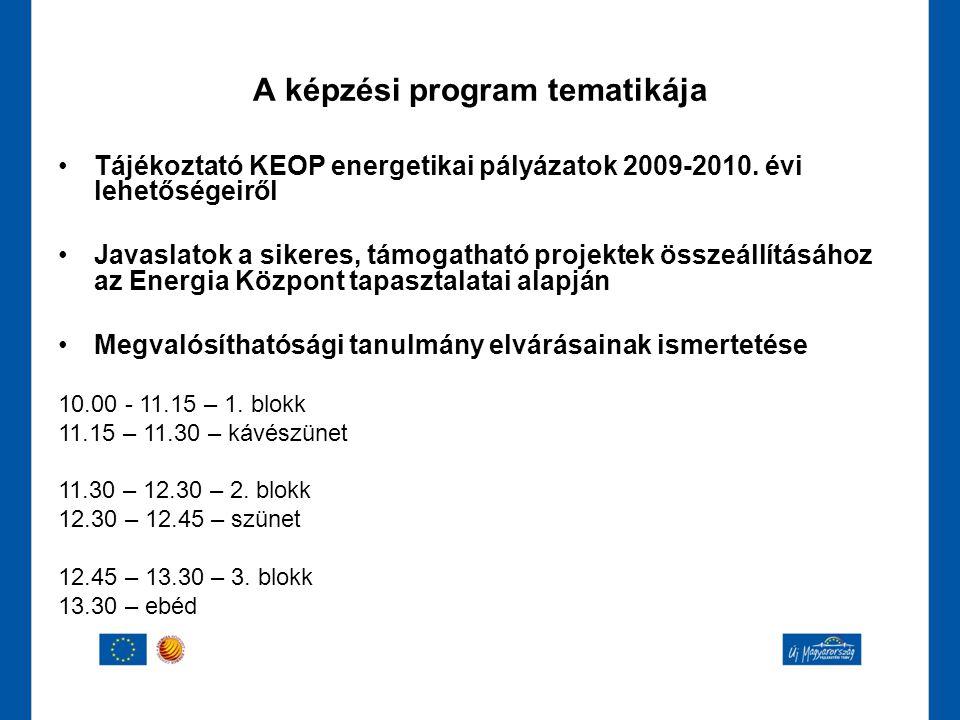 A képzési program tematikája