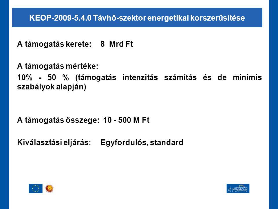 KEOP-2009-5.4.0 Távhő-szektor energetikai korszerűsítése