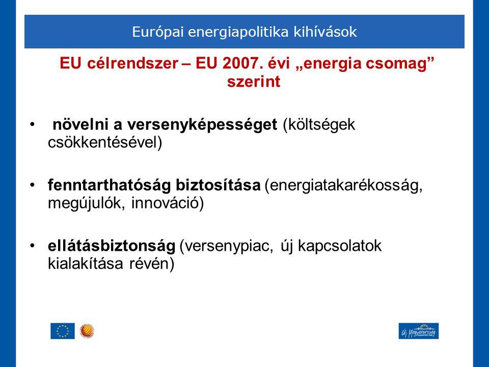 Európai energiapolitika kihívások