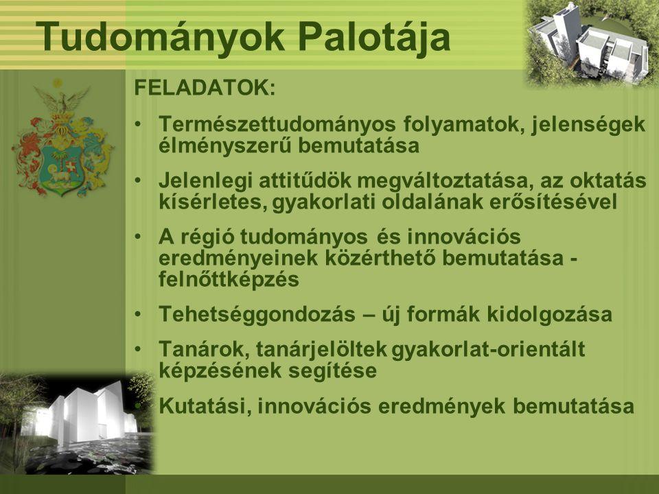 Tudományok Palotája FELADATOK: