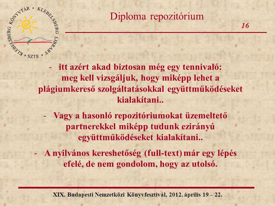 XIX. Budapesti Nemzetközi Könyvfesztivál, 2012. április 19 – 22.