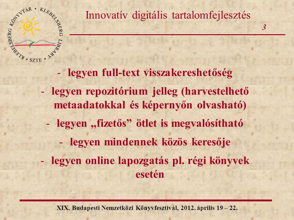 Innovatív digitális tartalomfejlesztés