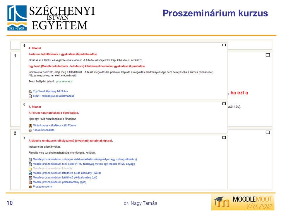 Proszeminárium kurzus