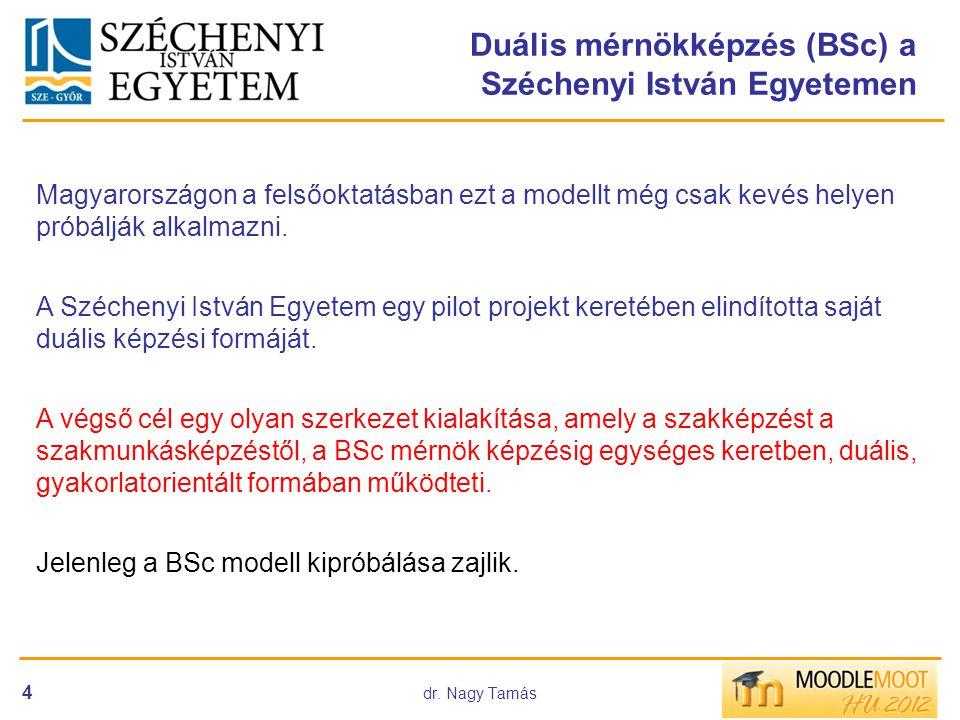 Duális mérnökképzés (BSc) a Széchenyi István Egyetemen
