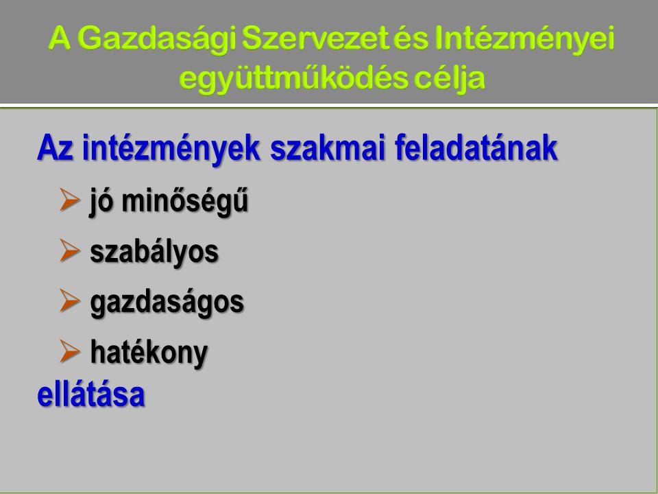 A Gazdasági Szervezet és Intézményei együttműködés célja