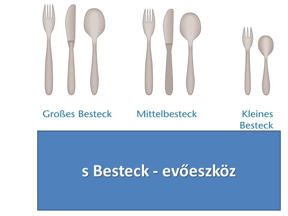 s Besteck - evőeszköz