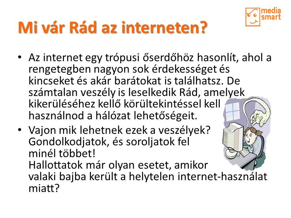 Mi vár Rád az interneten