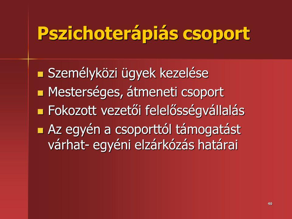 Pszichoterápiás csoport