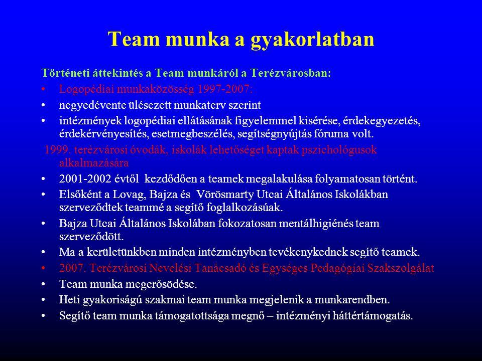 Team munka a gyakorlatban