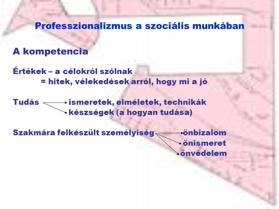 Professzionalizmus a szociális munkában
