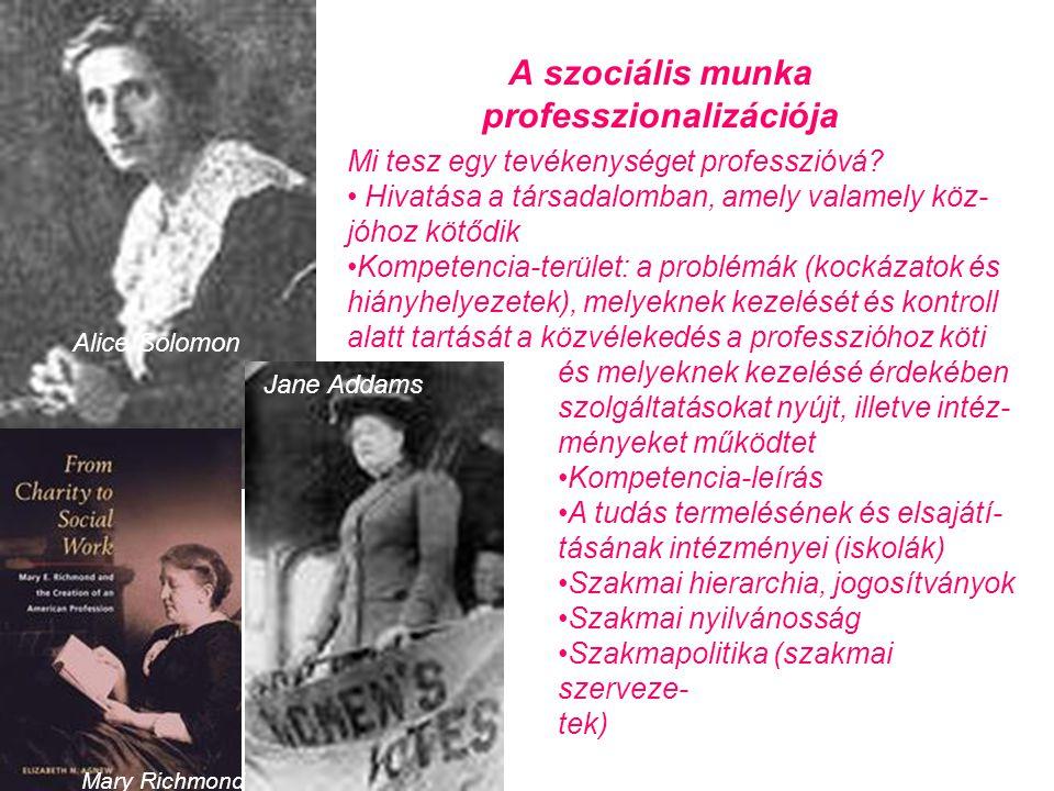 A szociális munka professzionalizációja