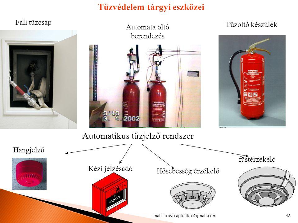 Tűzvédelem tárgyi eszközei