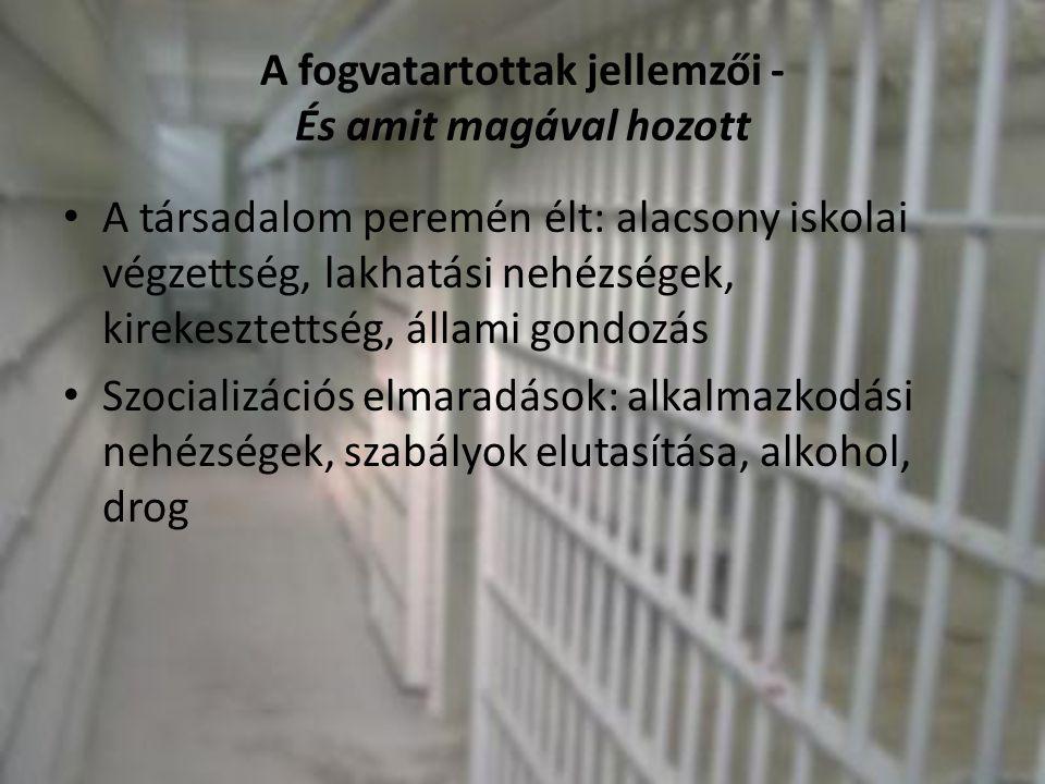 A fogvatartottak jellemzői - És amit magával hozott